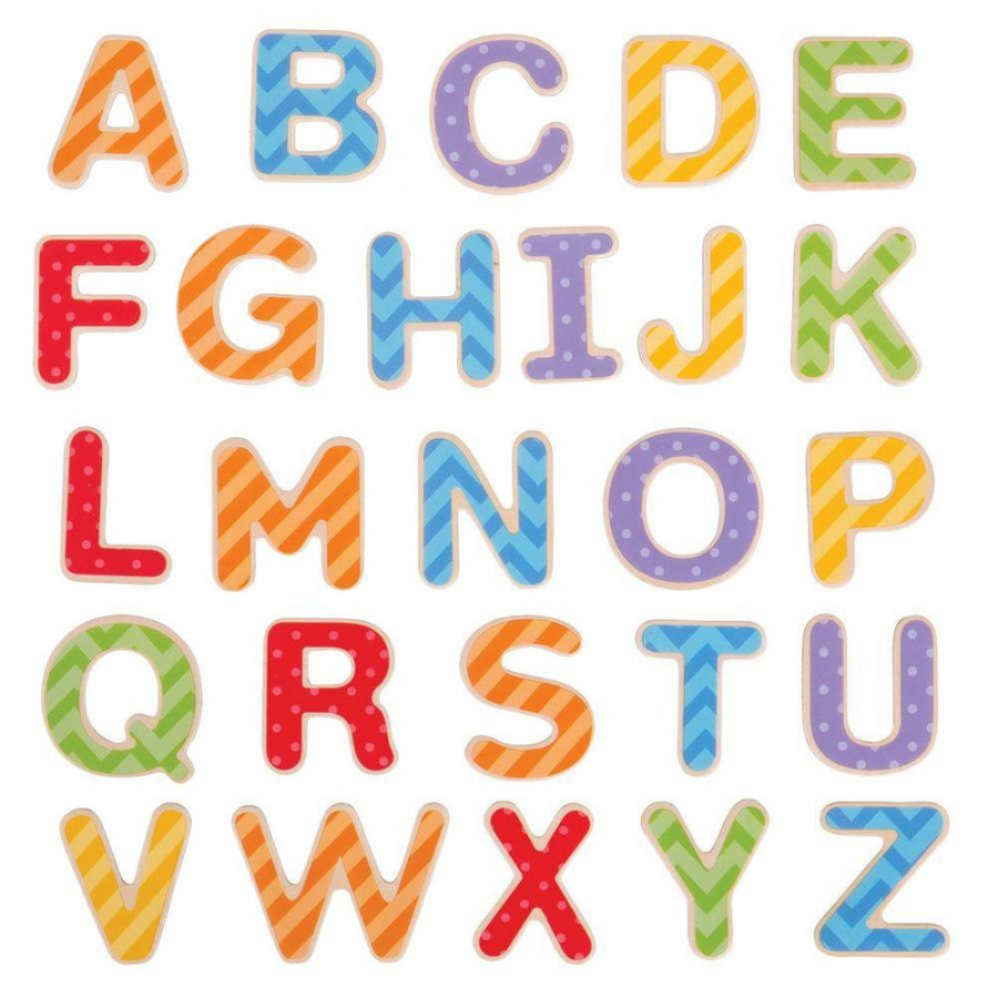 Set litere magnetice de tipar - 49 piese 1