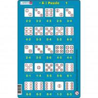 Set 16 Puzzle-uri Inmultire si Impartire, 25 Piese Larsen LRP49