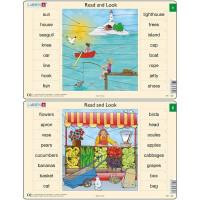 Set 10 Puzzle-uri Read and Look 1 -10 (EN), 16 piese Larsen LRRA1