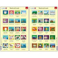 Set 10 Puzzle-uri Read and Look 21 -30 (EN), 10 piese Larsen LRRA11