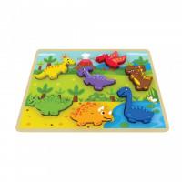 Puzzle din lemn Chunky Dinosaur Jumini