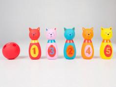 LUDI Set de popice soft PISICUTE