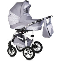 Carucior Flamingo Easy Drive 3 in 1 - Vessanti - Light Gray