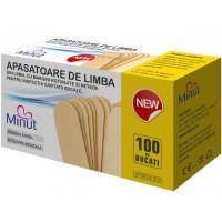 Apasatoare de limba sterile Minut -100 buc/ cutie