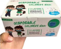 Masca protectie copii flippy 3 pliuri roz
