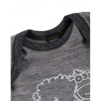 Salopetă/pijama/overall gri din lână Merinos organică Dilling Underwear pentru bebeluși  m92