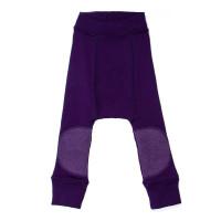 Pantaloni dublati Manymonths Patches lână merinos - Majestic Plum 3-12m
