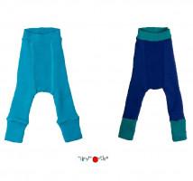 Pantaloni dublați Manymonths lână merinos - Royal Turquoise/Jewel Blue 0-4m