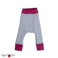 Pantaloni dublați Manymonths lână merinos  Frosted Berry/Bright Silver - 3-9m