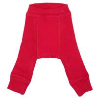 Pantaloni dublați Manymonths lână merinos  Cranberry Nectar  1-4y