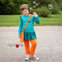 Colanti ManyMonths lână merinos - Festive Orange 10-13y