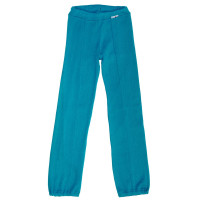 Pantaloni ManyMonths Hazel cu bretele lână merinos -Royal Turquoise - 8-10y