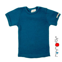 Body/Tricou (2 in 1) ManyMonths lână merinos cu maneca scurta - Mykonos Waters - 3-12/18m