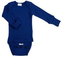 Body/Bluza(2 in 1) ManyMonths lână merinos- Jewel Blue- 0-4m