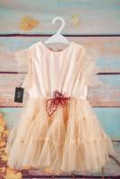 Rochita pentru fetite mici din tafta si tulle roz