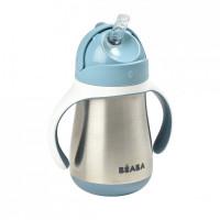 Cana inox cu pai Beaba 250ml - Albastru