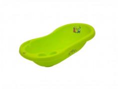 Cadita de baie bebe cu termometru MyKids Bear&Friends 100 cm Green
