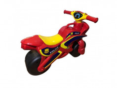 Motocicleta de impins MyKids Police Music 0139/56 Rosu Galben