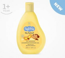 Bebble My friend  Șampon & gel de duș-  Banana