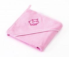 Prosop cu gluga Sensilllo HIPPO 80x80 cm Pink