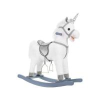 Balansoar Unicorn Alb, interactiv, 74 cm Kruzzel MY6595
