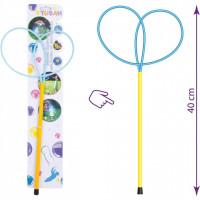 Bat cu inele pentru baloane de sapun Ring Pro Butterfly 40 cm Tuban TU3613