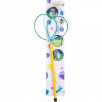 Bat cu inele pentru baloane de sapun Ring Pro Multi Butterfly 40 cm Tuban TU3614