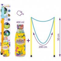 Set Bagheta uriasa baloane de sapun 50 cm si Solutie Baloane de sapun 400 ml Tuban TU3637
