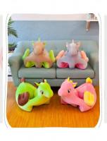 Fotoliu bebelusi unicorn gri