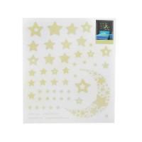 Set stickere fosforescente in Forma de Stele si Semiluna, 52 Bucati Iso Trade MY17368