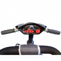 Tricicleta multifunctionala cu sunete si lumini Lux Trike dark grey