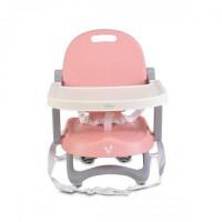 Scaun de masa, inaltator copii Cangaroo Papaya Pink